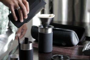 Make barista-quality coffee anywhere with this portable pour over kit