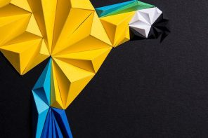 This 3D folded paper art adds the perfect balance of minimalism and colour to your walls!
