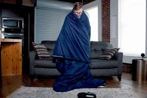 This XL weighted blanket mimics the feeling of being cuddled to sleep