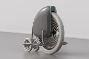 This penny-farthing hoverboard is a pretty old-fashioned piece of new technology!