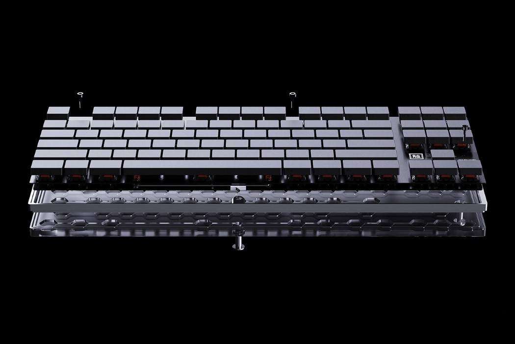 The GHOST Keyboard has markings on the front of the keys for