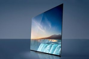 The Sony Bravia AG9's super-thin display literally vibrates to produce rich audio too!