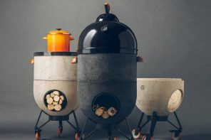Barbeque in the summer, stay warm in the winter with this grungy 4-in-1 concrete grill