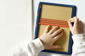 The Barrier-Free Braille Board refreshes the age-old braille-slate design.