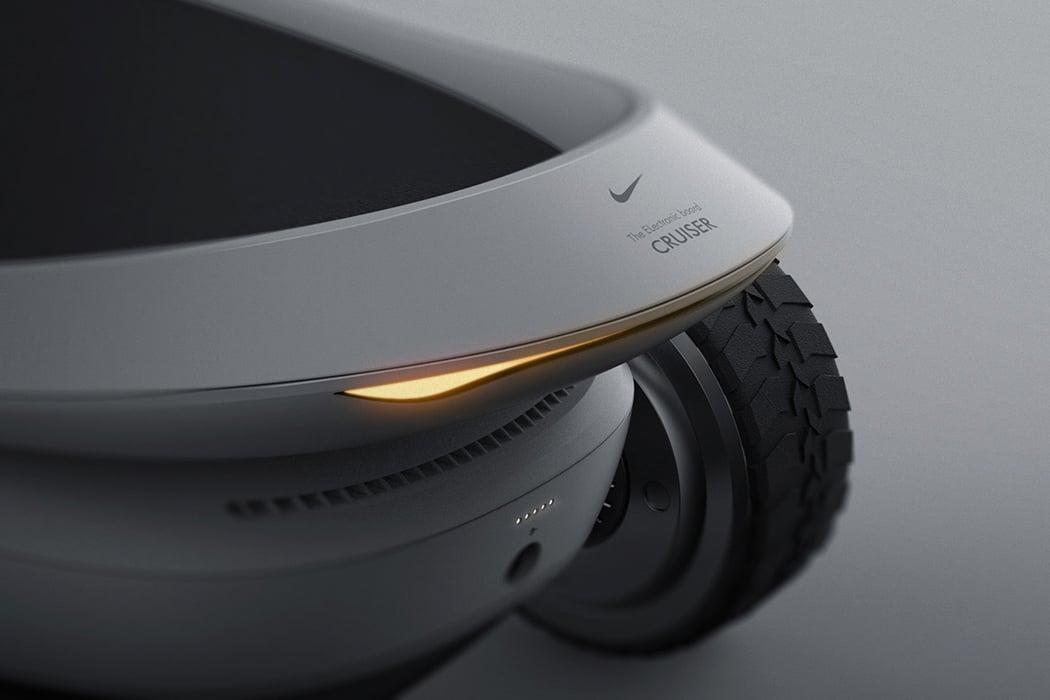 dostać nowe cienie duża zniżka Nike-inspired electric skateboard designed to charge while ...