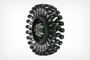 The Dandelion is an all-terrain tire concept that has 72 legs instead of an air-filled tube