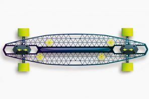 This skateboard uses less than half the material but provides more than double the strength