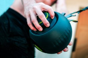 This medicine-ball shaped device is a complete resistance training gym-kit