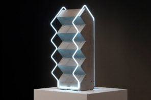 Neon lighting designs meet 3D concrete sculptures to bring your home to life!