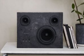This handcrafted steel speaker is the sculptured beast on every music lover's wish list!