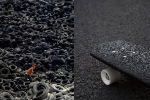 Made from old tires, this skateboard is the sustainability boost the sports tech industry needs!