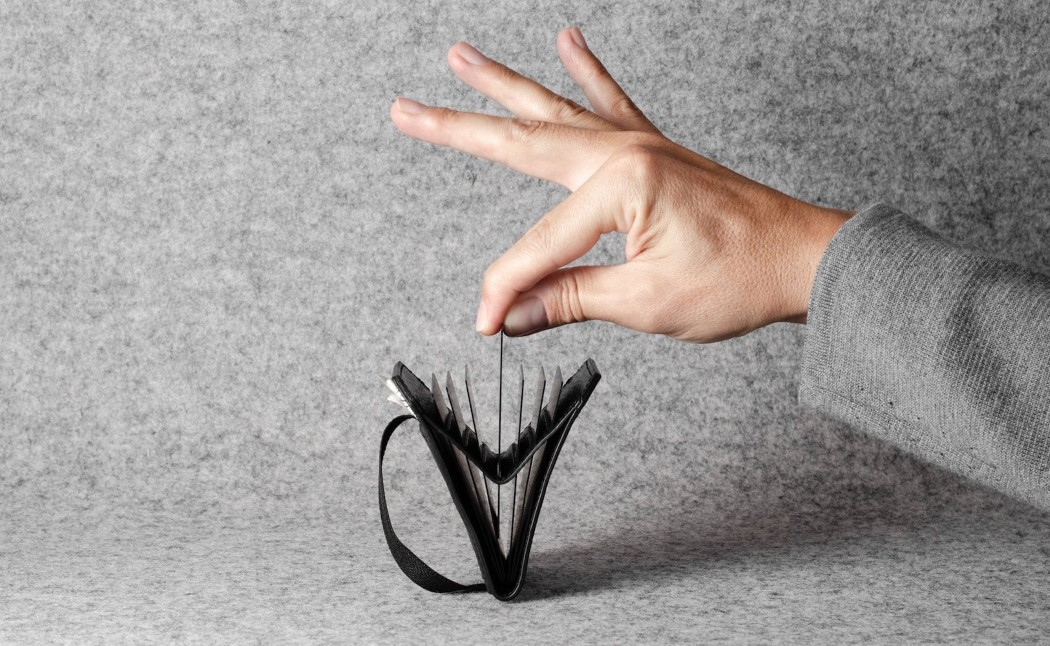 There's a simple joy in the way this wallet/card-holder opens up like an accordion!