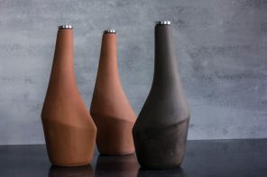 Jarra is a self-cooling clay flask that combines pre-refrigeration techniques with a contemporary form