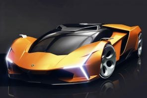 This automotive concept embodies Lamborghini's raging-bull spirit