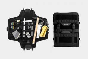 This backpack uses a military-inspired carry system to easily organize all your belongings