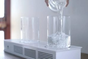 This radio from an alternate universe uses glasses of water as it's remote control!