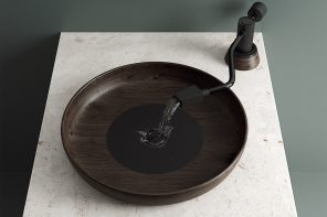 A vinyl turntable inspired washbasin to hit you with a wave of nostalgia!