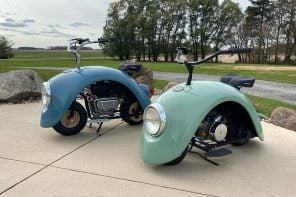 The original Volkswagen Beetle repurposed to create a fashionably old-fashioned mini bike!