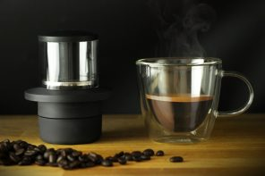 The world's smallest espresso maker is literally the size of a coffee-cup