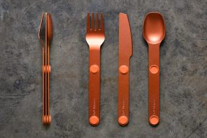 Goodbye Spork… Magware gives you a full cutlery set that just magnetically sticks together!