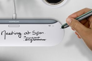 The charging pad of this conceptual Montblanc digital pen functions as its paper!