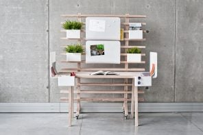 Productivity boosting modular work desk that rearranges to give you breathing space!