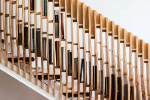 This multifunctional staircase conveniently stores all your books!