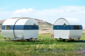This telescoping camper doubles in size in just 60 seconds!