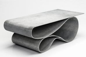 Designed from a mix of concrete and fabric, these tables will surprise you with their fluidity!