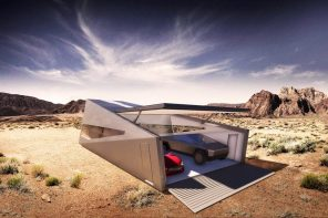 The Cybunker is the off-the-grid garage+bunker the Tesla Cybertruck deserves