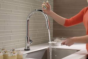 A voice-activated faucet so you can operate the tap, hands-free!