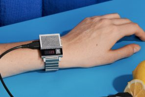 Nerd out over this retro watch that yells out the time like a 1980's answering machine!