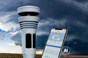 This lawn-mounted personal weather-station gives you AI-powered forecast predictions