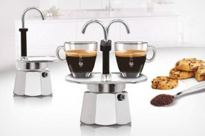 The creators of the Moka Pot have a cute stove-top espresso dispenser too!