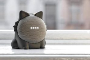 This feline-shaped case turns the Google Nest Mini into a cat that actually responds to commands