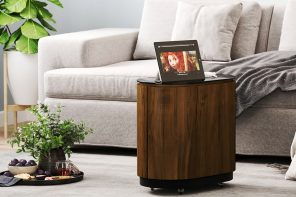 Kick off the decade of smart furniture with this butler-virtual assistant hybrid table!
