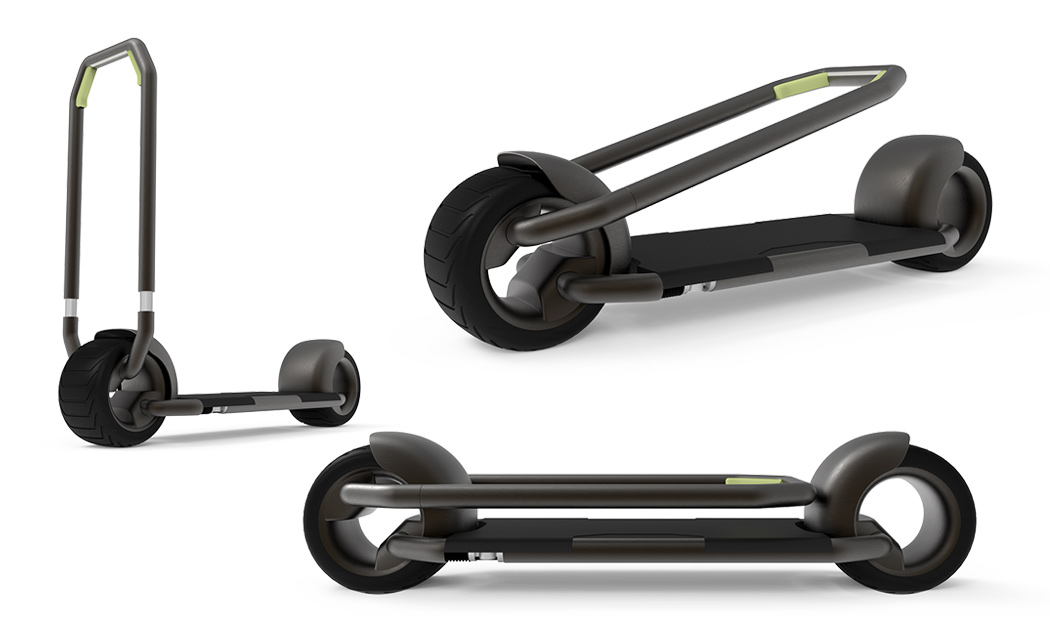 Future Needs Designs Like This Flat Packing Electric Scooter That Comes With Its Own Automated Storage System Yanko Design