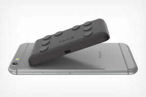 The Hable One is a Braille-to-text mobile keyboard that lets the visually impaired type out messages