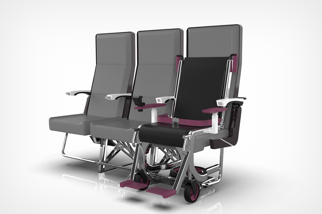This award-winning wheelchair integrates right into an airplane seat for easy boarding and de-boarding   Yanko Design