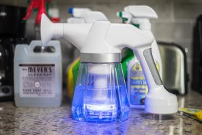 The Egret creates non-toxic cleaning solution just using water and salt
