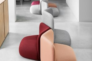 These adorably plushy armchairs function flawlessly in public and private setting!