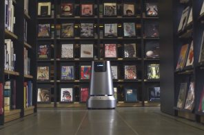 An autonomous robot that ensures the only thing you do in a bookstore is read