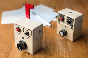 This collectible retro voice recorder has been handcrafted from sustainable wood!