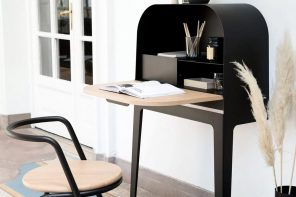 Elegantly French, this minimal hideaway desk is worthy of your home!