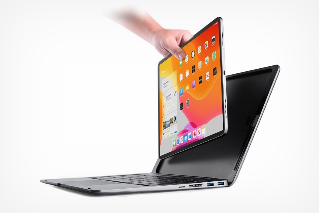 The doqo case turns your iPad Pro into a MacBook… with a trackpad and multiple ports!