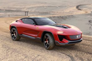 The Ferrari GT Cross concept integrates the company's racing DNA with SUV-design