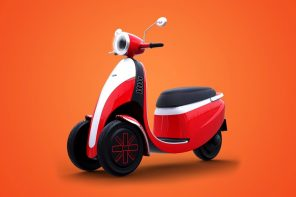 This adorable Italian electric trike can be driven with a car driving license
