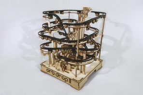This DIY Ball Bearing Racetrack is a better desktop toy than a Newton's Cradle