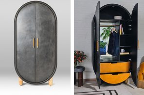 This pill-shaped wardrobe comes with an mirror to give you instant escapism!