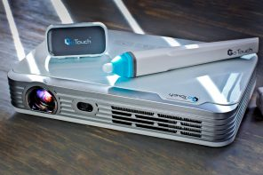This projector comes with a virtual on-screen whiteboard marker!